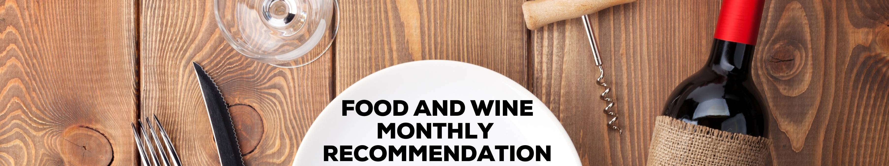 Wine Food Banner Monthly